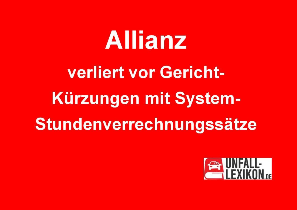 Allianz verliert vor Gericht