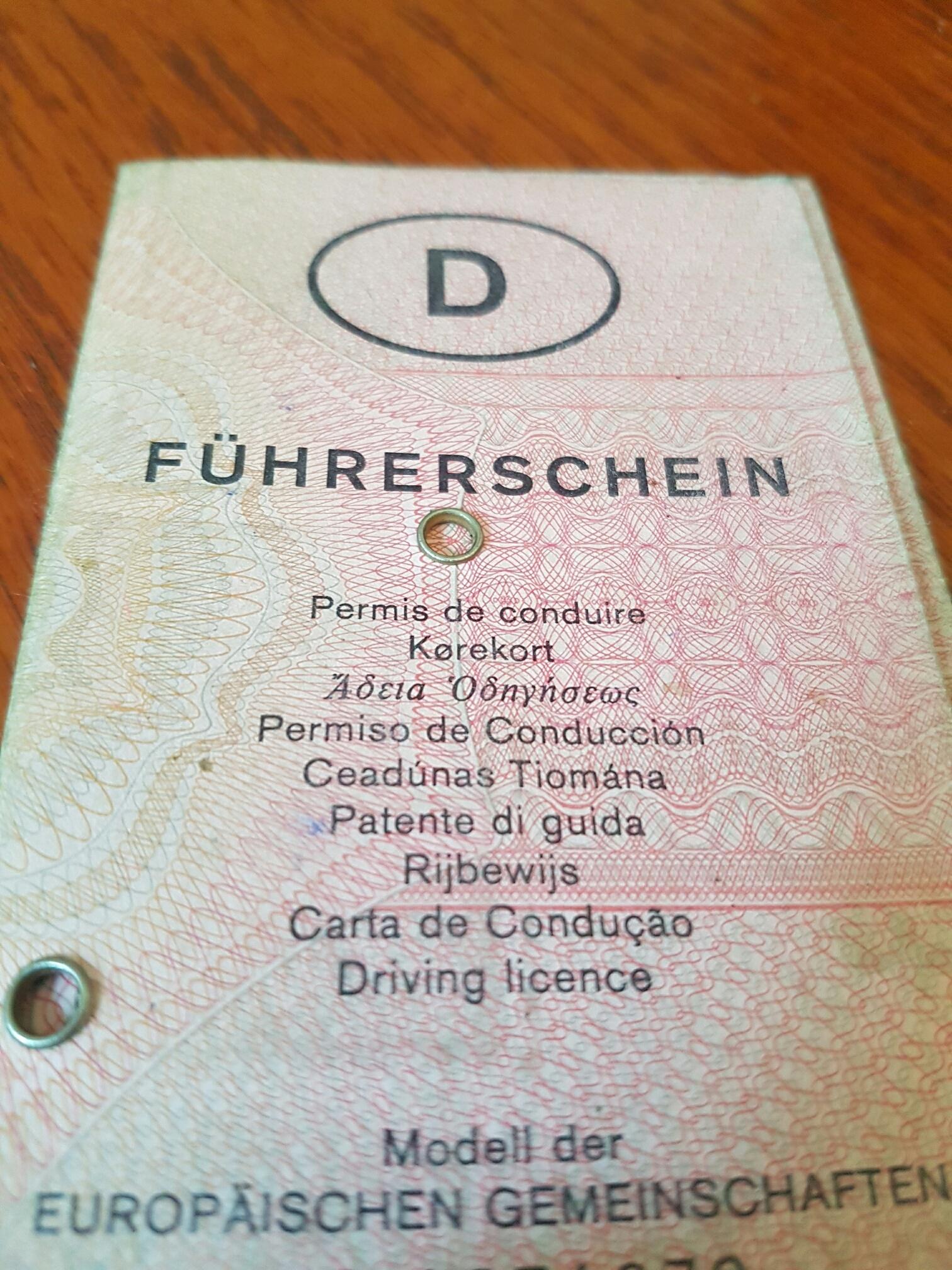 Fahrerlaubnis