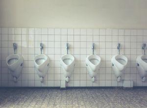 Toiletten an der Autobahn