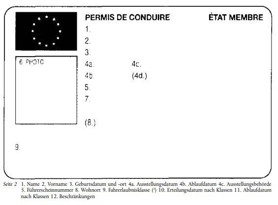 Der Führerschein: Hier ein Muster der EU