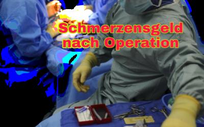 Schmerzensgeld nach Operation